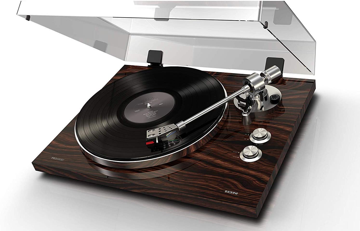 ION Audio PRO500BT - Giradiscos de Transmisión de Correa Premium Exquisitamente Diseñada para una Reproducción Musical Superior con Capacidad de Transmisión de Bluetooth Inalámbrica