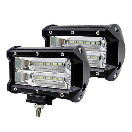 HruiZ Luz de Trabajo LED 5 Pulgadas 72W Cree Proyector LED ...