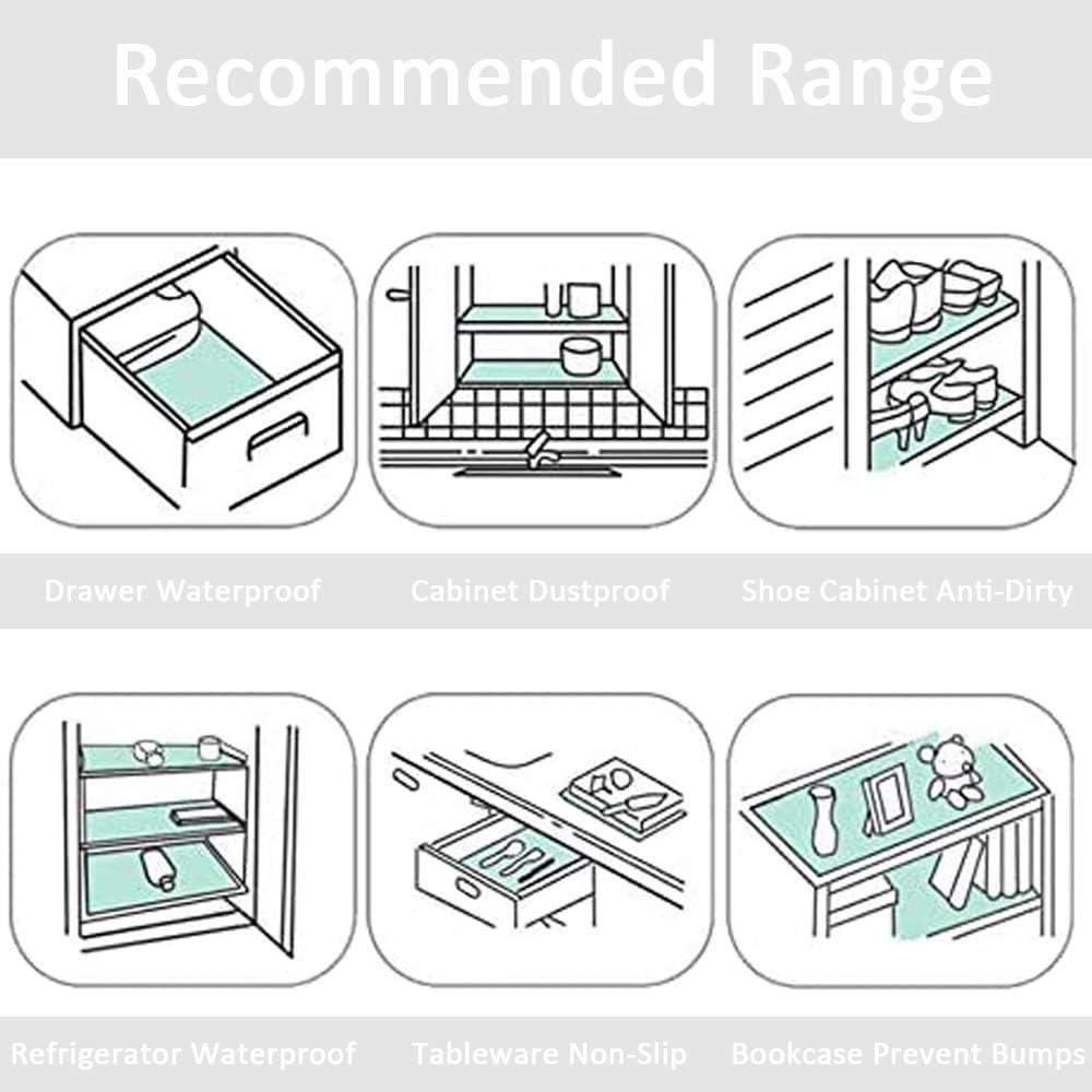 6 r/églables tiroirs lavables placards Anvin Lot de 6 tapis de r/éfrig/érateur pour r/éfrig/érateur non adh/ésifs tables multi-usages