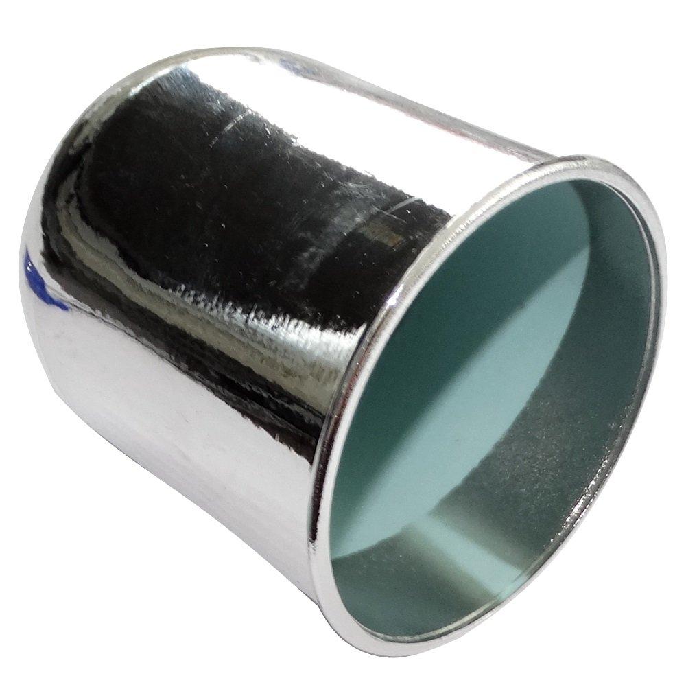 Aerzetix: Cache boule rotule d'attelage remorque en plastique pour auto voiture couleur chrome C18568 C18568-AL557
