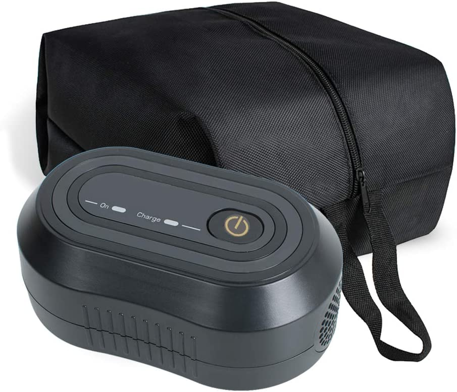 Denshine Black Mini CPAP Cleaner, Portable CPAP Cleaner and Sanitizer Includes Sanitizing Bag, CPAP Cleaner Disinfector for Masks, Cushion, 22mm Diameter of Tubing and Household Sterilization Cleaning