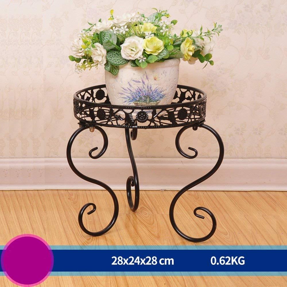 prodotti creativi IG Flower Stand-Flower Rack Iron Art Art Art Soggiorno da Terra Balcone Indoor Outdoor Single Basin verde Flower Flower Stand (28  24  28Cm, Scelta Multipla a Colorei),2  benvenuto a scegliere