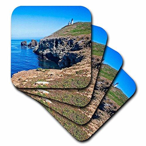 (3dRose Boehm Photography Travel - Anacapa Island View - set of 8 Ceramic Tile Coasters (cst_282340_4))