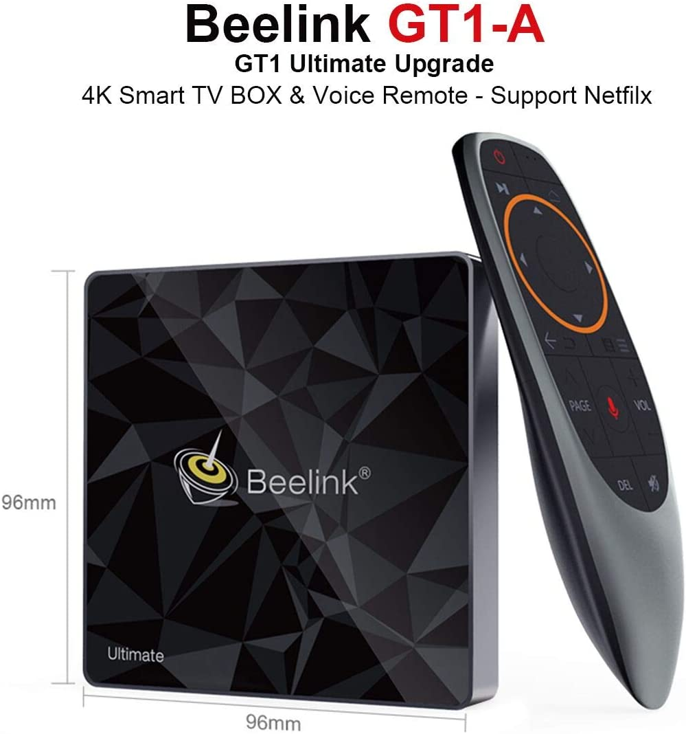 Beelink GT1 A TV Box 3GB RAM 32GB Storage Voice Remote Control WiFi 2.4+5.8GHz 1000Mbps LAN 4K HD Netflix Youtube Google Play Smart Android TV Box: Amazon.es: Electrónica
