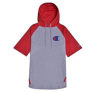 4925d0e0a Amazon.com: Champion Big and Tall Mens Short Sleeve Hoodie Raglan with Big  C Chest Logo: Clothing