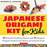 Japanese Origami Kit for Kids: 92 Colorful Folding Papers and 12 Original ...