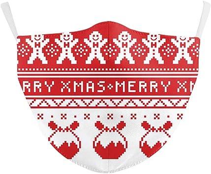 Eboutik Weihnachtliche Hässliche Pullover Designs Stoff Gesichtsmasken Mit Filterschlitz Wiederverwendbare Waschbare Und Atmungsaktive Gesichtsbedeckungen Merry Xmas Auto