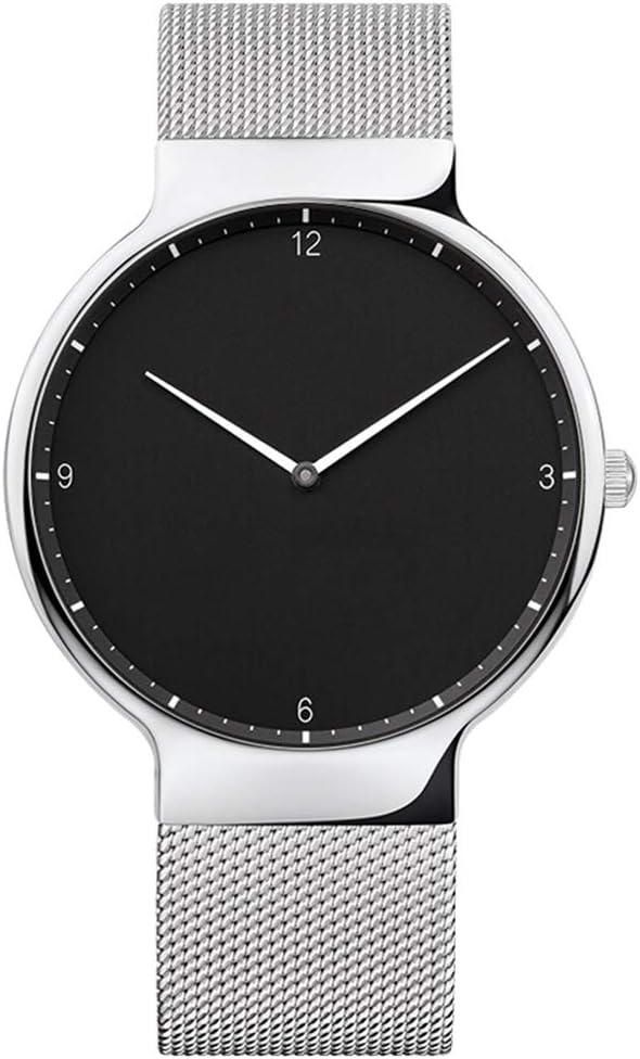 Liandd Orologio Uomo Luxury Brand Mens Orologi Orologio da Polso al Quarzo Ultra Sottile in Maglia di Acciaio Inossidabile Fashion Casual Silver Black