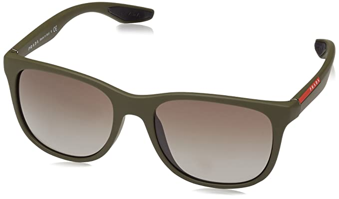 670912e44e7 Image Unavailable. Image not available for. Color  Prada Linea Rossa PS 3OS  UBW4M1 Sunglasses Green Rubber