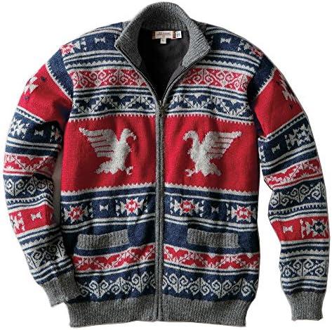 [アイファーニットウェア/IFER Knitwear] ジップカーディガン アルパカ100% ライニング付き ニット メンズ