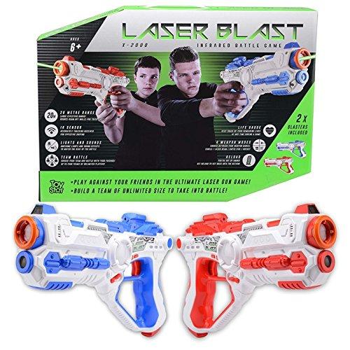 Laser Blast X – 2000 Infrared Battle Tag 2 Player Electronic Gun Blaster...