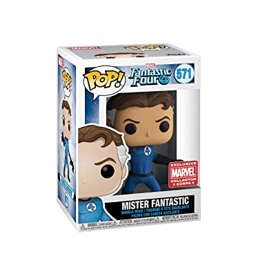 POP! Marvel Collector Corps Exclusive Fantastic Four 571 Mister Fantastic w/ Protective Case: Toys & Games