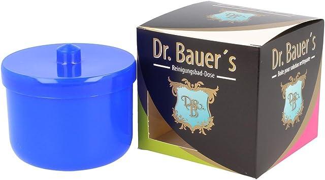Dr. Bauer Recipiente dental-baño de limpieza   encaje de la prótesis   La dentadura puede   La dentadura puede con inserción   Los apoyos pueden azul (1 pieza): Amazon.es: Salud y cuidado personal