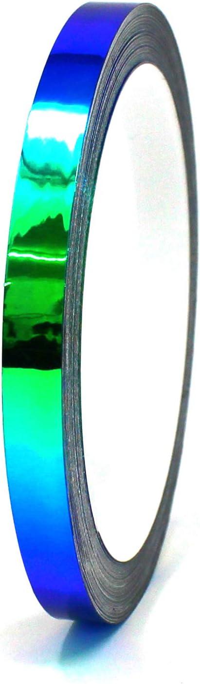 10 Meter Flip Flop Chrom Zierstreifen Basteln Effektfolie Hologramm Chameleon Auto Motorrad Modellbau Klebestreifen FF3 Gr/ün//Orange, 7mm Breite