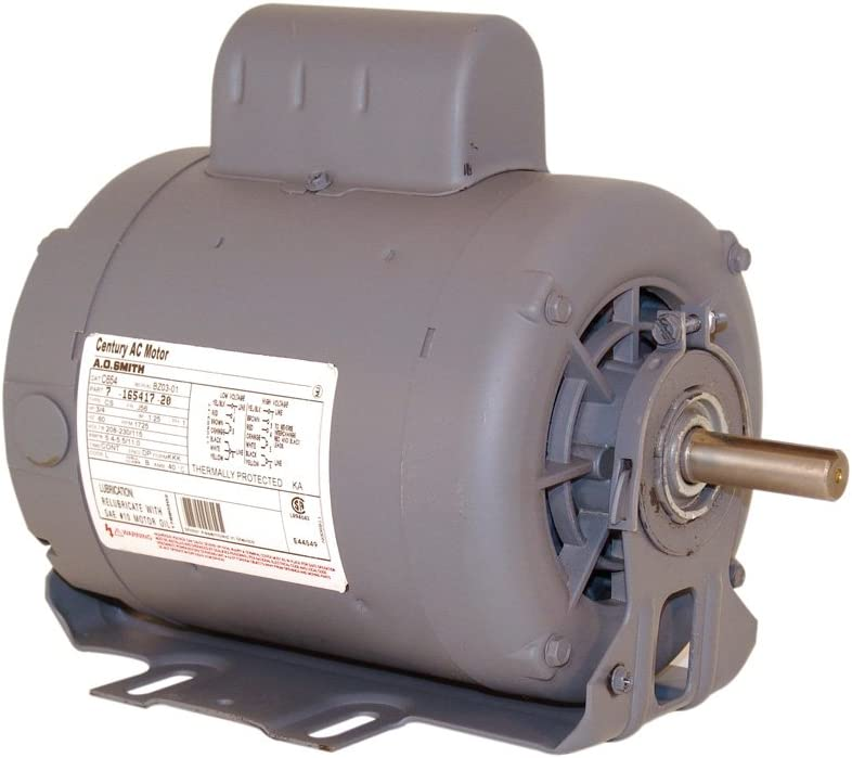 A.O. Smith C412V1 1/2 HP, 1725 RPM, 115/208-230 Volts, 56 Frame, ODP Enclosure, Ball Bearing Capacitor Start Motor
