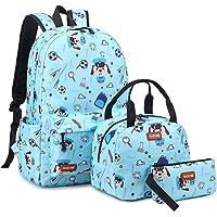 Blackstone School bag Waterproof Nylon Teen Boys/Girls Book Bag Middle School Backpack 3 Pc set (Light Blue) طقم شنطة…