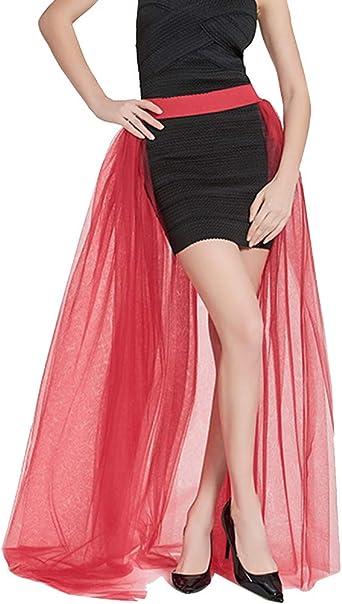 Mengyu Falda Tul Mujer Faldas Punk Asimétricas para Boda Fiestas ...