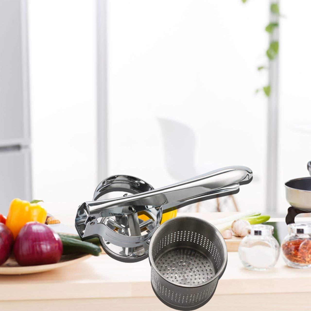 Stainless Steel Potato Ricer Wavy Masher Vegetable Fruit Crusher Kitchen Tool MENYUNYIJI