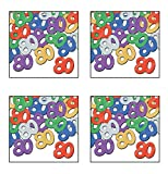 Beistle S50716MCAZ4, 4 Packages Fanci Fetti 80 Silhouettes, 0.5 Ounces of Confetti in Package, Total of 2 Ounces of Confetti (Multicolor)