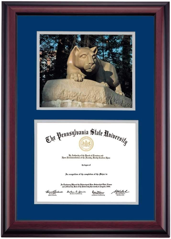 Campus Images Illinois State 11 x 8.5 Inches Gold Embossed Diploma Frame with 5 x 7 Inches Portrait
