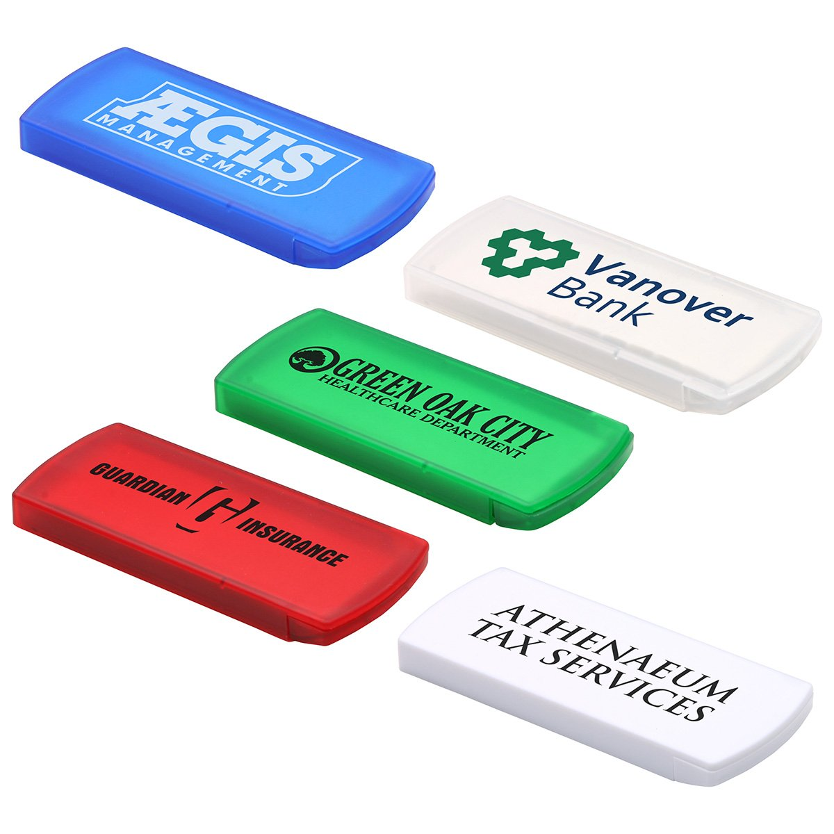 250 Custom Slide-Right Bandage Dispenser Printed with Your Logo or Message