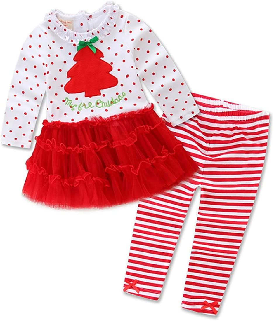 Huicai Childrens Baby Girls Christmas Clothes Suit Autumn Winter