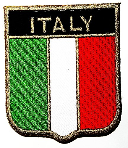 ITALY ITALIA Flag Shield National Rome Country Team Military logo patch Jacket T-shirt Sew Iron on Patch Badge Embroidery
