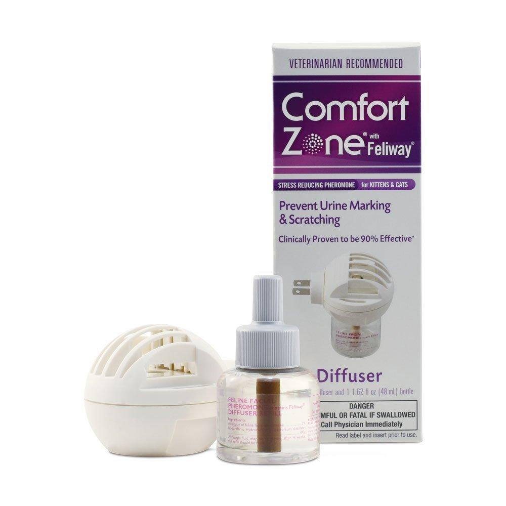 Comfort Zone izhcft Feliway - Difusor de calmante para gatos, 4 unidades: Amazon.es: Hogar
