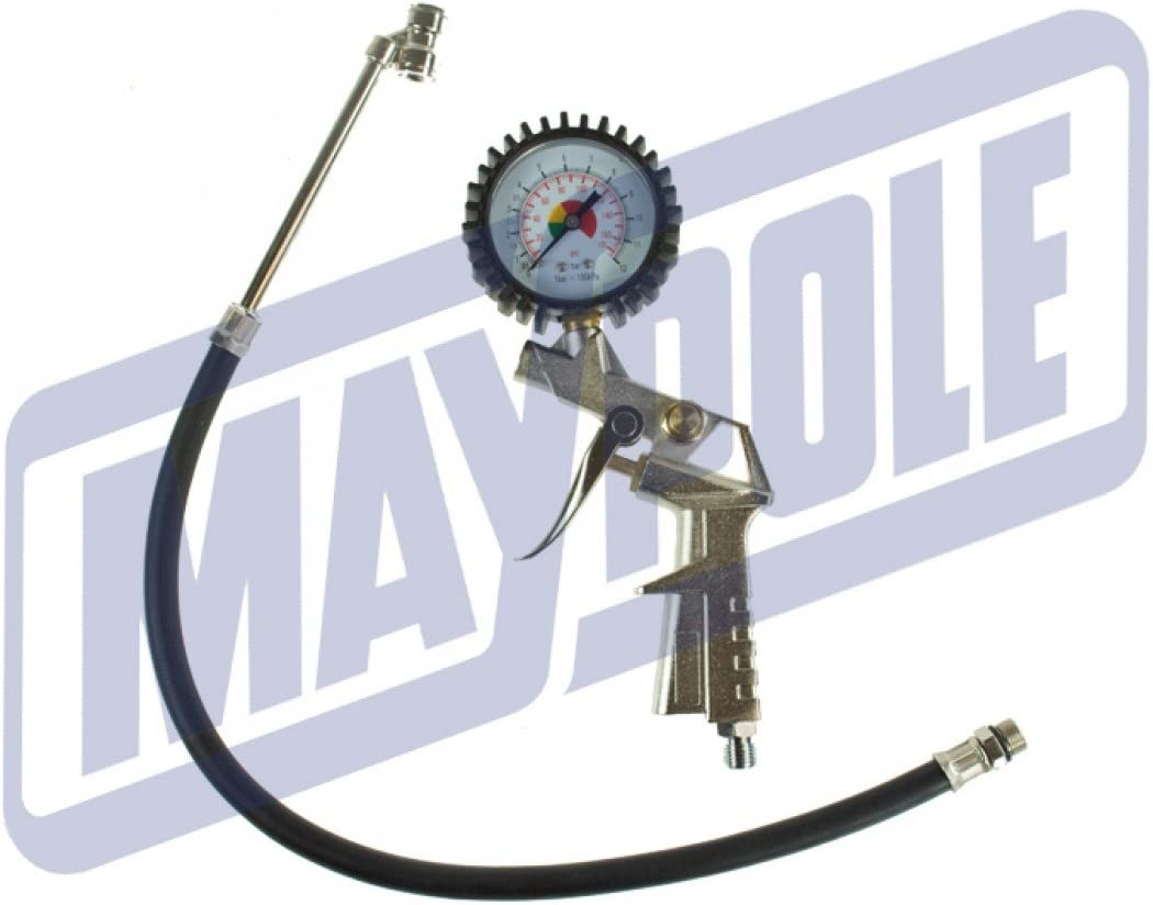 Maypole MP7805 INFLATOR with Push ON TYRE Chuck