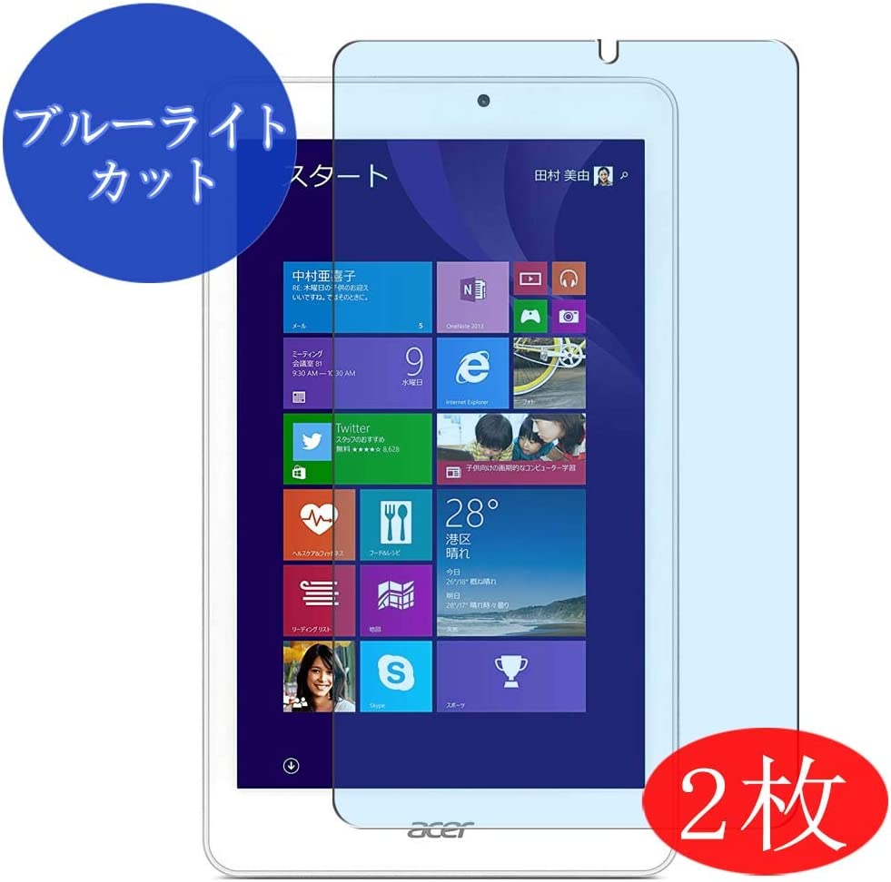 【2 Pack】 Synvy Anti Blue Light Screen Protector for Acer iconia Tab W1-810 8W 8