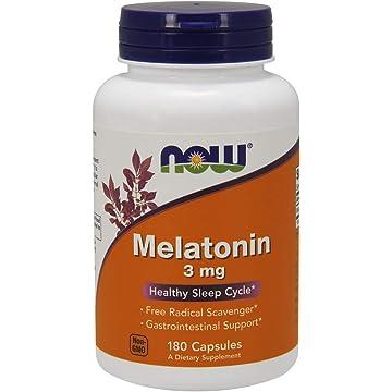 Amazon.com: NOW FOODS SPO Melatonin 5Mg Cap, 60 Count: Health ...