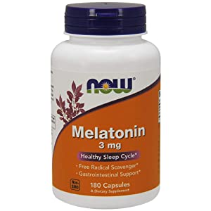 NOW Supplements, Melatonin 3 mg, 180 Veg Capsules
