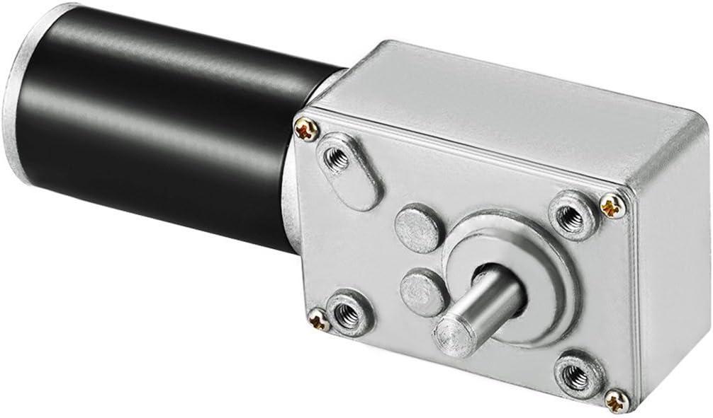 sourcingmap DC 12V 220RPM Worm Gear Motor 5kg-cm Reversible High Torque Speed Reduce Turbine Electric Gearbox Motor 8mm Shaft