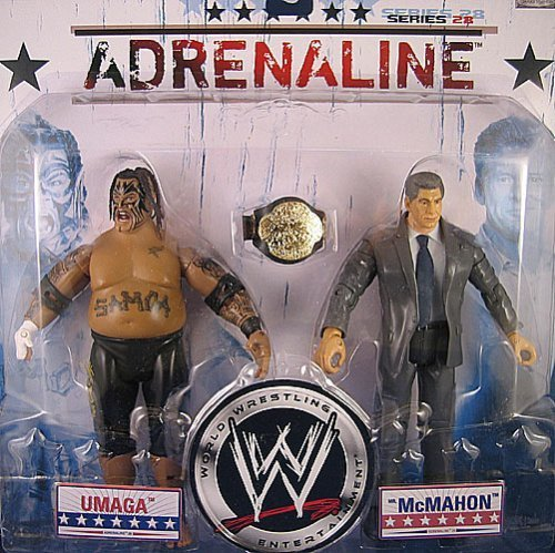 WWE Wrestling Adrenaline Series 28 Action Figure 2-Pack Vince McMahon & Umaga by Jakks Pacific