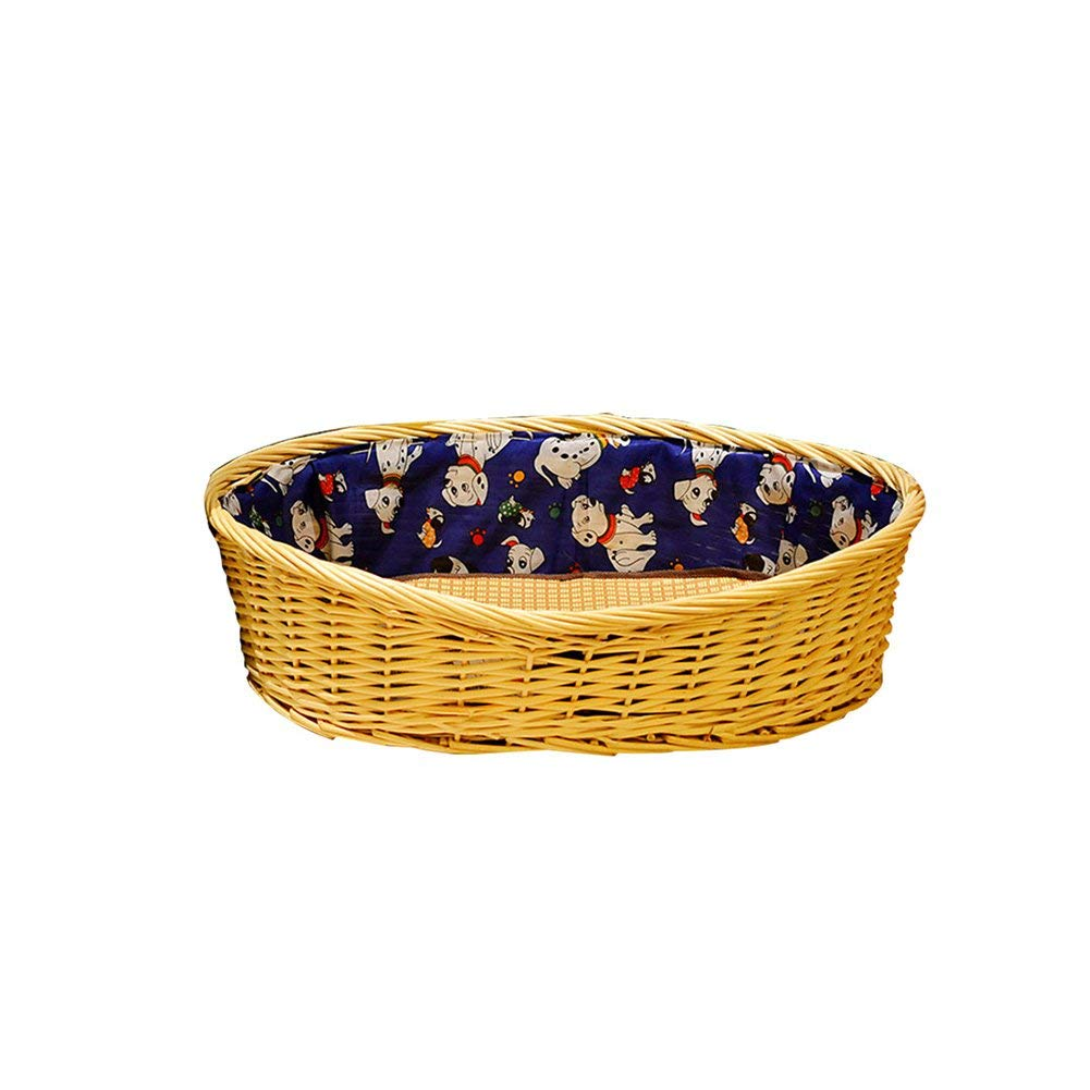 blu Bridge Casa del Cane, Cuccia Estiva Teddy Canile Lavabile Lettiera Cani di Media Taglia Cani di Piccola Taglia Animali Domestici Nidi di salice (Dimensione   Large)