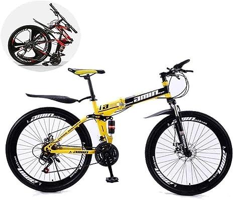 QZ Bicicletas de montaña, Plegables 24 Pulgadas de Doble ...