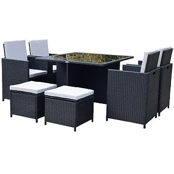 Amazon.de: Polyrattan Lounge Gartenmöbel Set Garnitur Sitzgruppe ...