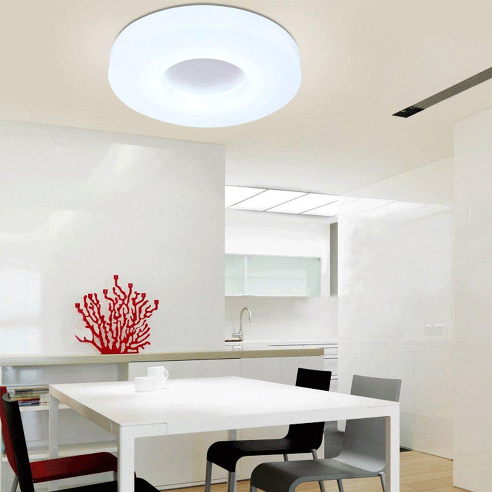MITOYO Moderne Runde Stilvolle Deckenleuchte Romantisch Eleganz Design Flur Wohnzimmer Lampe20w LED Weiß,B