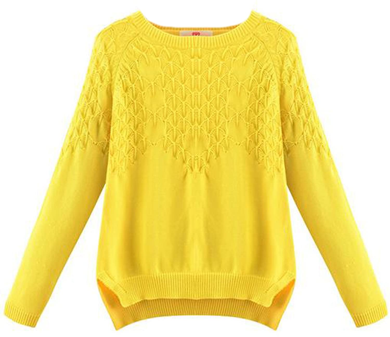 KXP Womens Elegant Solid Slim Knitted Soft Pullover Sweaters
