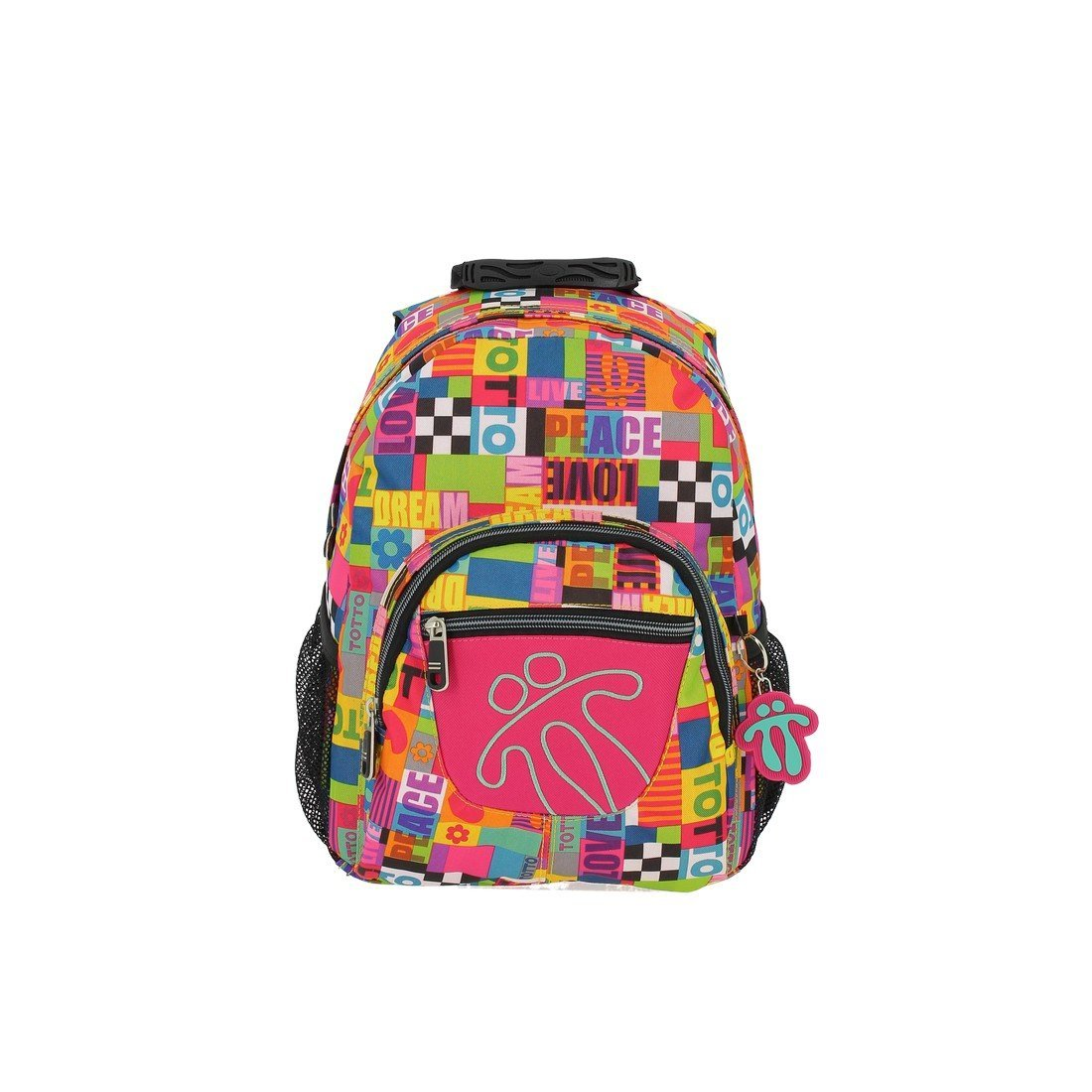Totto Tempera Kids Backpack and School Bag (peace and love ...