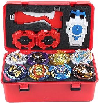 MagiDeal 12pcs Peonzas Spinning Top 4D Burst Toys Launcher, Niños ...