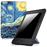 Fintie Origami Case for Kindle Paperwhite - The Thinnest and Lightest PU Leather Cover for All-New Amazon Kindle Paperwhite (Fits All versions: 2012, 2013, 2015 and 2016 New 300 PPI), Starry Night