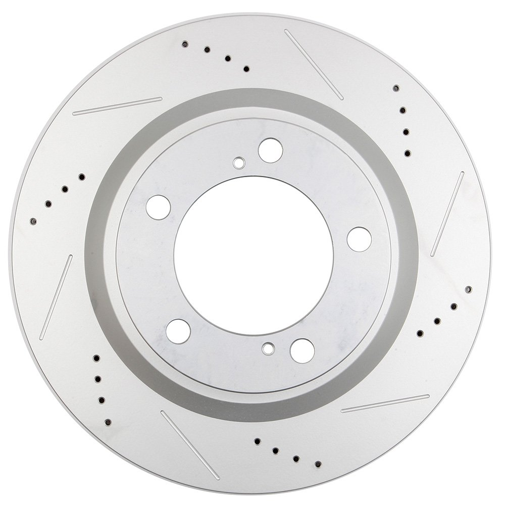 ECCPP Front Rear Discs Brake Rotors and Ceramic Disc Brake Pads Kit for 2008-2016 Toyota Sequoia,2016 Toyota Land Cruiser,2010-2015 Toyota Tundra,Front and Rear