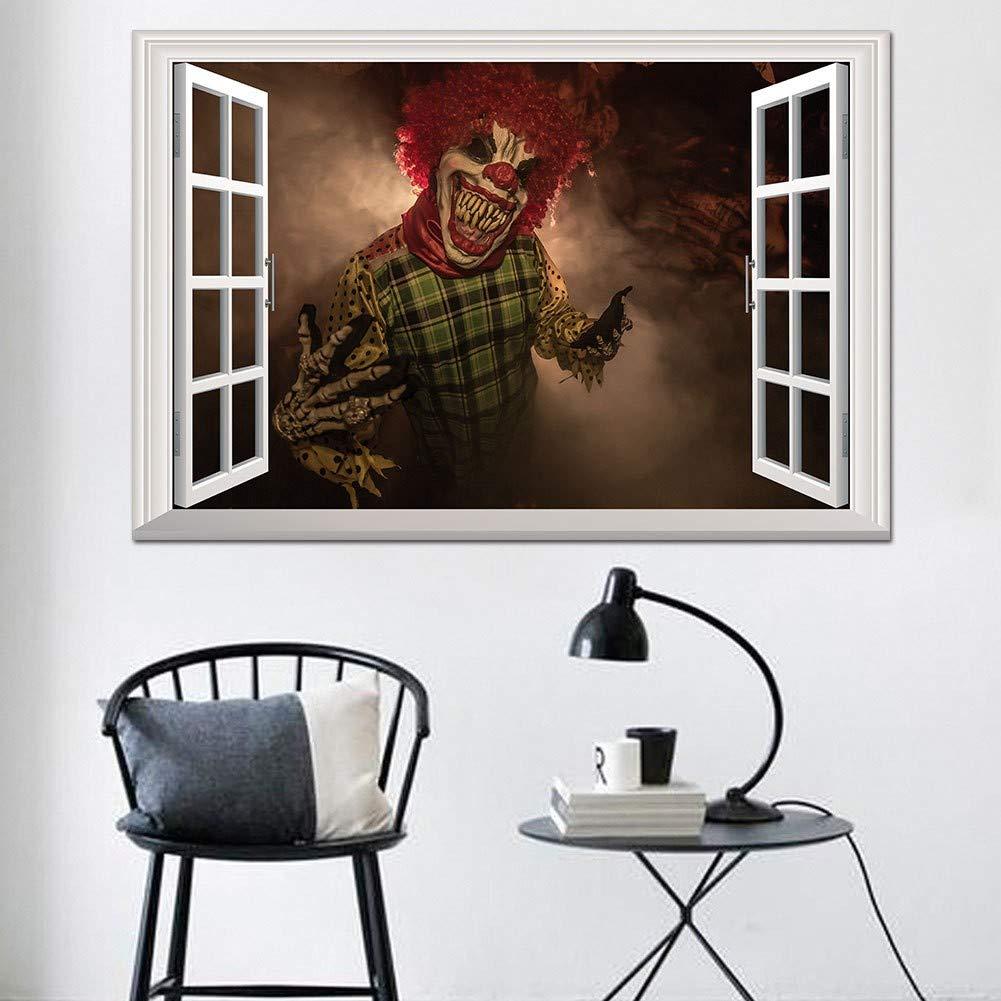 Autoadesivo creativo della parete della finestra di falso 3D stereo adesivi di diavolo di Halloween diavolo decorazione camera da letto soggiorno 2 set: ...