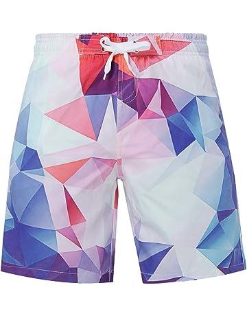 Lazzon Pantaloncini Piscina Bambino Costume da Bagno Shorts del 3D e Cappello 2-10 Anni