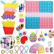 Fidget Toys Packs Anti-Anxiety Toy Set,Fidget Block Set Stress Relief Toys for Adults Kids, Sensory Fidget Toy