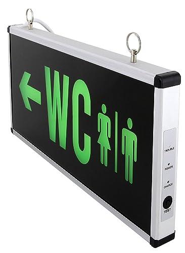 LED inodoro Cartel 3 W 100LM – Batería 230 V – Lámpara ambos lados iluminada permanente