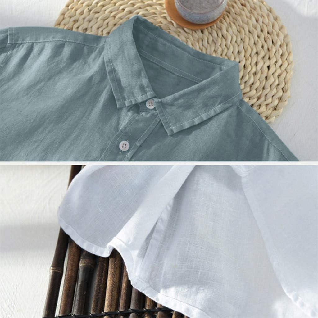 Fubotevic Mens Plain Basic Long Sleeve Cloak Buttons Formal Dress Shirts