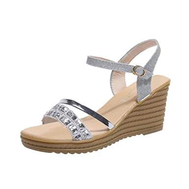 071e2a94fe37f3 DENER Women Ladies Girls Summer Platform Wedge Sandals