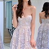 Pervobs Women Elegant Sleeveless Off-Shoulder